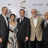 HONG KONG - MARCH 24:   (L-R) Hollywood Reporter's Senior VP, Publishing Director Eric Mika, Soo-Wei Shan, actor Kiefer Sutherland, Nielsen Consultant Gerry Byrne and Dreamworks CEO of Animation Jeffery Katzenberg attend The Hollywood Reporter Next Gen Asia Launch Cocktail Reception event at the W Hotel Kowloon on March 24, 2009 in Hong Kong. The initiative has recognised over 500 individuals under 35 over the last 15 years, and is run in conjunction with the Hong Kong International Film Festival. Photo by Victor Fraile / studioEAST