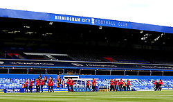 Bristol City arrive at St Andrew's ahead of their Sky Bet Championship fixture with Birmingham City - Mandatory by-line: Robbie Stephenson/JMP - 12/08/2017 - FOOTBALL - St Andrew's Stadium - Birmingham, England - Birmingham City v Bristol City - Sky Bet Championship