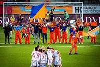 1. divisjon fotball 2018: Aalesund - Levanger (4-0). Supportere før avspark i kampen i 1. divisjon i fotball mellom Aalesund og Levanger på Color Line Stadion.