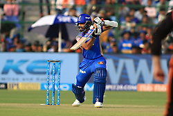 April 29, 2018 - Jaipur, Rajasthan, India - Rajasthan Royals batsman Ajinkya Rahane plays a shot during the IPL T20 match against Sunrisers  Hyderabad at Sawai Mansingh Stadium in Jaipur on 29th April,2018. (Credit Image: © Vishal Bhatnagar/NurPhoto via ZUMA Press)