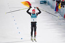 February 12, 2018 - Pyeongchang, SOUTH KOREA - 180212  Laura Dahlmeier of Germany celebrates after the Women's Biathlon 10km Pursuit during day three of the 2018 Winter Olympics on February 12, 2018 in Pyeongchang..Photo: Jon Olav Nesvold / BILDBYRN / kod JE / 160156 (Credit Image: © Jon Olav Nesvold/Bildbyran via ZUMA Press)