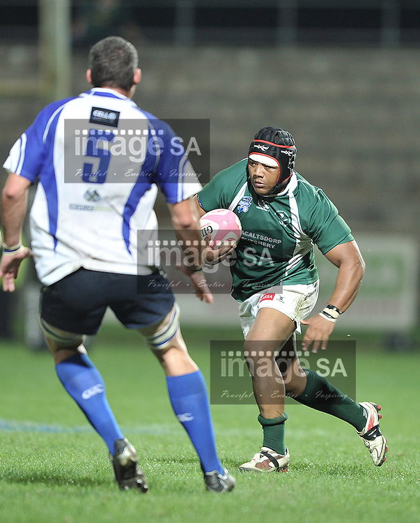 GEORGE, SOUTH AFRICA - Thursday 28 March 2013,  Gershwin Muller of Evergreens during the Cell C Community Cup Quarter-finals rugby match between Rustenberg Impala and Pacaltsdorp Evergreens held at the Outeniqua Stadium, George in the Western Cape Province..Photo by Luigi Bennett/ ImageSA