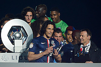 Edinson Cavani  - 23.05.2015 - PSG / Reims - 38eme journee de Ligue 1<br />Photo : Andre Ferreira / Icon Sport