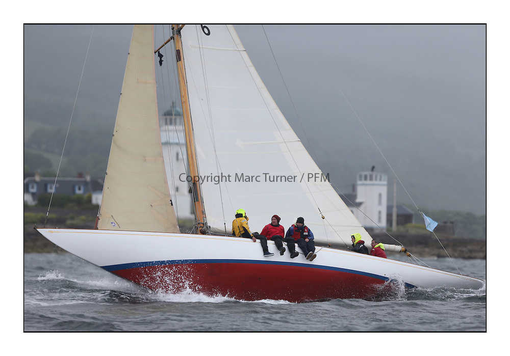 Day two of the Fife Regatta,Passage race to Rothesay.<br /> Mikado, Sir Micheal Briggs, GBR Burmudian Cutter, Wm Fife 3rd, 1904<br /> <br /> * The William Fife designed Yachts return to the birthplace of these historic yachts, the Scotland&rsquo;s pre-eminent yacht designer and builder for the 4th Fife Regatta on the Clyde 28th June&ndash;5th July 2013<br /> <br /> More information is available on the website: www.fiferegatta.com