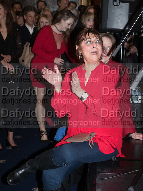 LADY NADIRA NAIPAUL, Literary Review Christmas drinks and  Bad Sex in fiction Awards, In and Out club. St. James's Sq. London. 30 November 2017