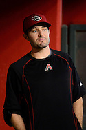 May 15, 2016; Phoenix, AZ, USA; Arizona Diamondbacks outfielder A.J. Pollock (11) stands in the dugout during the game against the San Francisco Giants at Chase Field. Mandatory Credit: Jennifer Stewart-USA TODAY Sports