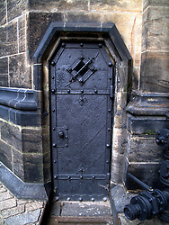 CZECH REPUBLIC BOHEMIA PRAGUE AUG10 - Ornately decorated medieval door in Prague, Czech Republic...jre/Photo by Jiri Rezac..© Jiri Rezac 2010