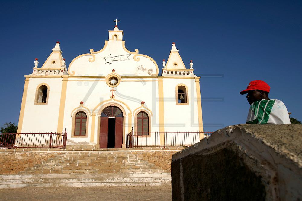Vila do Maio (Maio's Village) church. Most of Cape Verdeans are catholics.