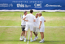 LIVERPOOL, ENGLAND - Sunday, June 21, 2015: The Legends during Day 4 of the Liverpool Hope University International Tennis Tournament at Liverpool Cricket Club. (Pic by David Rawcliffe/Propaganda)