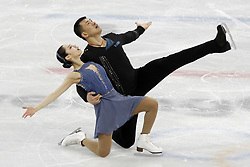 February 15, 2018 - Pyeongchang, KOREA - Xiaoyu Yu and Hao Zhang of China compete in pairs free skating during the Pyeongchang 2018 Olympic Winter Games at Gangneung Ice Arena. (Credit Image: © David McIntyre via ZUMA Wire)