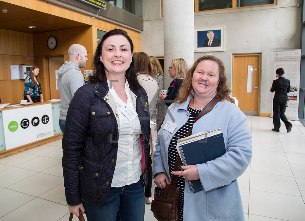 19.05.2017      <br /> Pictured at The Journey to Enterprise Excellence 1 Conference, Kemmy Business School, University of Limerick were, Deirdre Fitzgerald, Cooke Medical and Sarah Feheney, HSE. Picture: Alan Place.