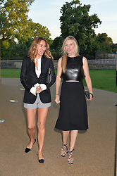 Left to right, ALEX MEYERS and PIPPA VOSPER at a summer drinks party hosted by Bec Astley Clarke at the Serpentine Sackler Gallery, Hyde Park, London on 17th June 2014.