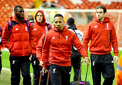 Liverpool players lead by Nathaniel Clyne arrive at Anfield - Mandatory byline: Matt McNulty/JMP - 02/03/2016 - FOOTBALL - Anfield - Liverpool, England - Liverpool v Manchester City - Barclays Premier League