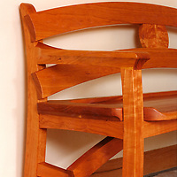 cherry bench detail handmade furniture/chairs