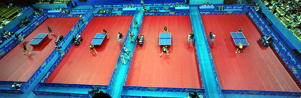 A Panoramic Image Of The Table Tennis Competition At Sydney Olympic Park During 2000