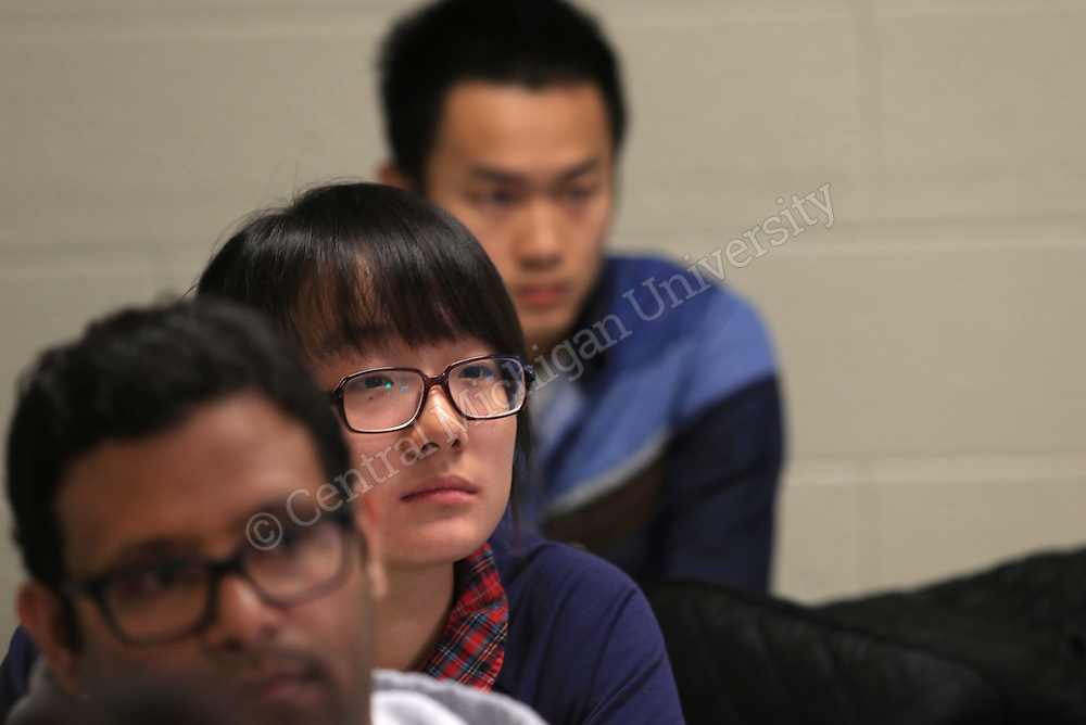 ESL international students in classes in Grawn Hall. Central Michigan University photo by Steve Jessmore