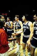 Europei Francia 1983 - Nantes: Alberto Tonut, Marco Bonamico, Enrico Gilardi, Roberto Brunamonti medaglia d'oro