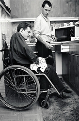 Carer & disabled man UK 1991