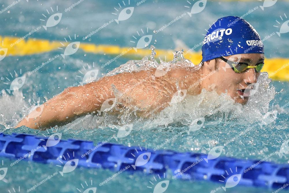 Francesco Pavone Esercito<br /> 200 farfalla uomini<br /> Stadio del Nuoto Riccione<br /> Campionati Italiani Nazionali Assoluti Nuoto Primaverili Fin <br /> Riccione Italy 23-04-2016<br /> Photo &copy; Andrea Staccioli/Deepbluemedia/Insidefoto