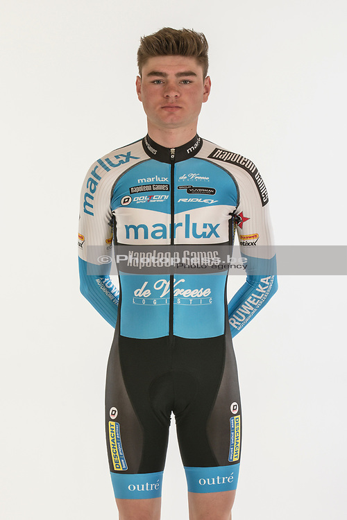 BELGIE / BELGIUM / BELGIQUE / OUDENAARDE / OFFICIAL PHOTO SHOOT 2017 - 2018 / MARLUX - NAPOLEON GAMES CYCLING TEAM / CYCLING / CX / CYCLOCROSS / CYCLO-CROSS / VELDRIJDEN / <br /> SIEBENS GIANNI (MARLUX - NAPOLEON GAMES CYCLING TEAM) /