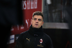 January 26, 2019 - Milan, Milan, Italy - Krzysztof Piatek #19 of AC Milan before the serie A match between AC Milan and SSC Napoli at Stadio Giuseppe Meazza on January 26, 2018 in Milan, Italy. (Credit Image: © Giuseppe Cottini/NurPhoto via ZUMA Press)