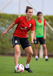 LARNACA, CYPRUS - Thursday, March 1, 2018: Wales' Melissa Fletcher during a training session in Larnaca on day three of the Cyprus Cup tournament. (Pic by David Rawcliffe/Propaganda)