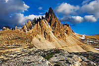 Mountain impression Paternkofel - Europe, Italy, South Tyrol, Sexten Dolomites, Tre Cime - Afternoon - July 2009 - Mission Dolomites Tre Cime