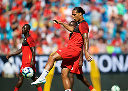 CHARLOTTE, USA - Saturday, July 21, 2018: Liverpool's Virgil van Dijk during a training session at the Bank of America Stadium ahead of a preseason International Champions Cup match between Borussia Dortmund and Liverpool FC. (Pic by David Rawcliffe/Propaganda)