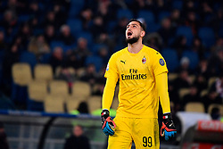 03.02.2019, Stadio Olimpico, Rom, ITA, Serie A, AS Roma vs AC Milan, 22. Runde, im Bild donnarumma // donnarumma during the Seria A 22th round match between AS Roma and AC Milan at the Stadio Olimpico in Rom, Italy on 2019/02/03. EXPA Pictures © 2019, PhotoCredit: EXPA/ laPresse/ Alfredo Falcone<br /> <br /> *****ATTENTION - for AUT, SUI, CRO, SLO only*****