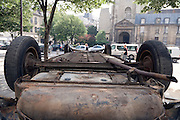 old car upside down Paris St Germain des Pres