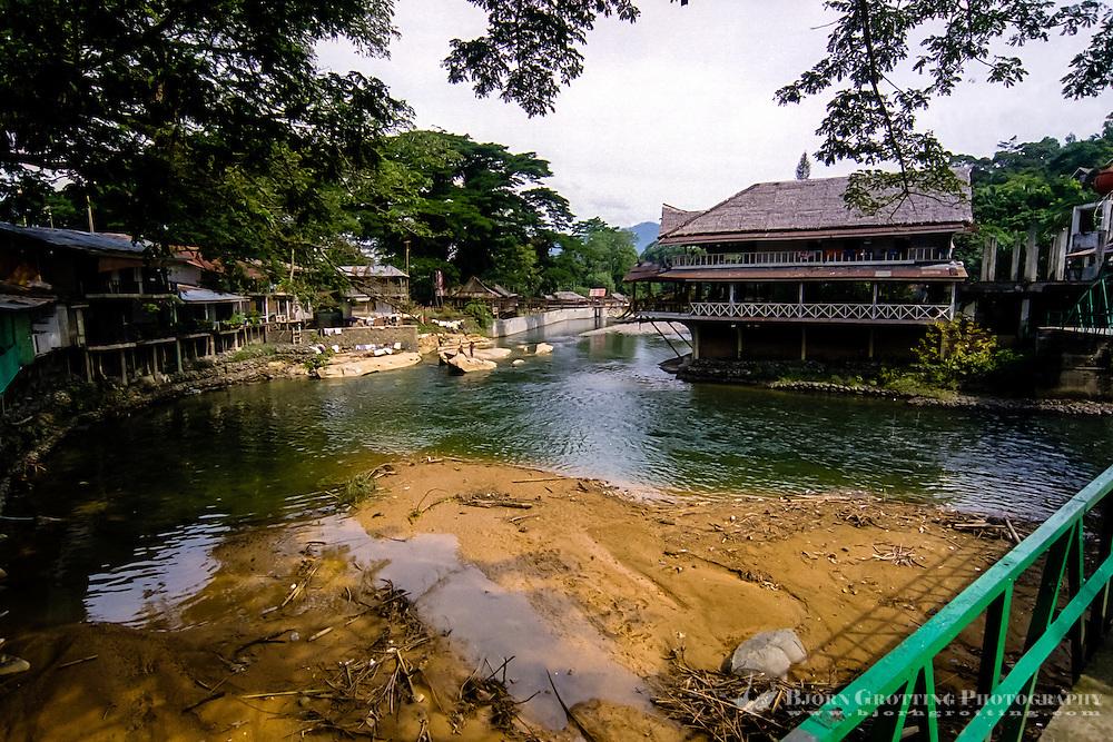 Indonesia, Sumatra. Bukit Lawang. Bukit Lawang is a small tourist village at the bank of Bahorok River.
