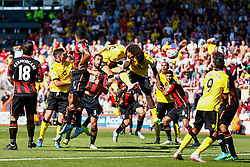Goal, Rudy Gestede of Aston Villa scores with s blasting header, Aston Villa 1-0 AFC Bournemouth - Mandatory by-line: Jason Brown/JMP - Mobile 07966 386802 08/08/2015 - FOOTBALL - Bournemouth, Vitality Stadium - AFC Bournemouth v Aston Villa - Barclays Premier League - Season opener