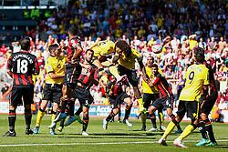 Goal, Rudy Gestede of Aston Villa scores with s blasting header, Aston Villa 1-0 AFC Bournemouth - Mandatory by-line: Jason Brown/JMP - Mobile 07966 386802 08/08/2015 - FOOTBALL - Bournemouth, Vitality Stadium - AFC Bournemouth v Aston Villa - Barclays Premier League - Season opener