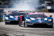 March 15-17, 2018: Mobil 1 Sebring 12 hour. 66 Ford Chip Ganassi Racing, Ford GT, Joey Hand, Dirk Mueller, Sebastien Bourdais, 67 Ford Chip Ganassi Racing, Ford GT, Ryan Briscoe, Richard Westbrook, Scott Dixon
