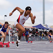 23 March 2018: Lakin Hatcher competes in the 400 meter dash on the final day of the 43rd annual Aztec Invitational.<br /> More game action at sdsuaztecphotos.com