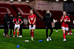 Yana Daniels of Bristol City, Georgia Wilson and Flo Allen of Bristol City - Mandatory by-line: Ryan Hiscott/JMP - 17/02/2020 - FOOTBALL - Ashton Gate Stadium - Bristol, England - Bristol City Women v Everton Women - Women's FA Cup fifth round