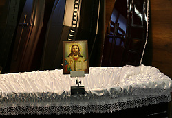 May 27, 2017 - Thessaloniki, Greece - International Funeral and Cemetery Equipment Exhibition is a 3 day event being held from 26th May to 28th May 2017 at the HELEXPO in Thessaloniki, Greece. (Credit Image: © Grigoris Siamidis/NurPhoto via ZUMA Press)