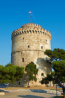 Grèce, Macédoine, Thessalonique, La Tour Blanche, témoin du passé ottoman de Thessalonique // Greece, Macedonia, Thessaloniki, the White Tower, built during the reign of Suleiman the Magnificent