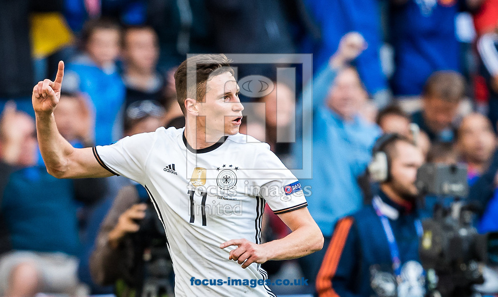 Julian Draxler of Germany celebrates scoring their third goal during the UEFA Euro 2016 match at Stade Pierre-Mauroy, Lille, France.<br /> Picture by EXPA Pictures/Focus Images Ltd 07814482222<br /> 26/06/2016<br /> *** UK &amp; IRELAND ONLY ***<br /> EXPA-FEI-160626-5258.jpg