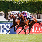 Laurens (PJ McDonald) wins The Gurkha Coolmore Prix Saint-Alary Gr. 1 in Paris Lonchamp, France, 27/05/2018, photo: Zuzanna Lupa