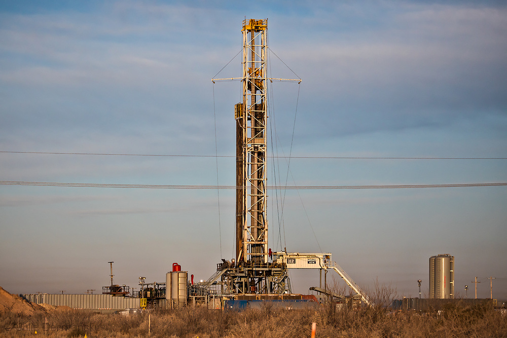 1/12/2020 - Drilling rig in the Permain Basin on the outskirts of Midland Texas.