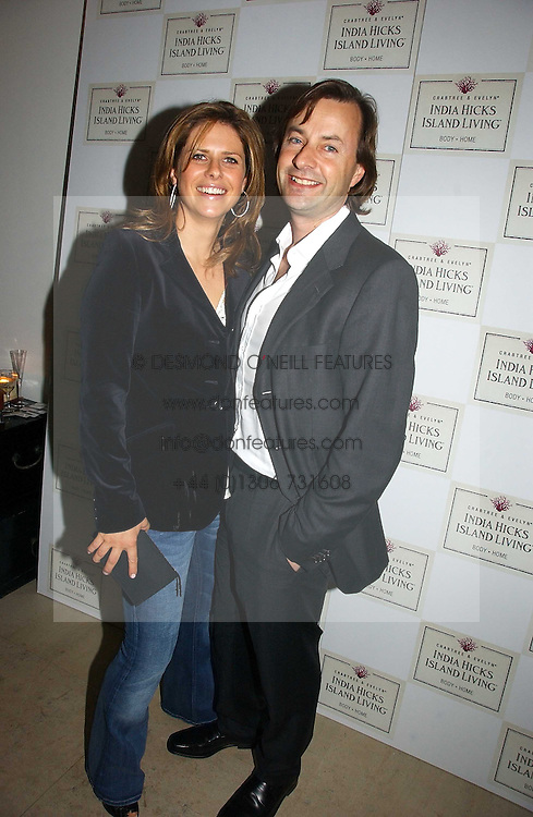 TIM &amp; ISABELLA KNATCHBULL at a party to celebrate the launch of India Hick's 'Island Living' range of frangrance and beauty products in association with Crabtree &amp; Evelyn held at The Hempel, Craven Hill Gardens, London on 22nd November 2006.<br />