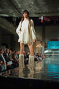 Julilan Gold fastions at the Tribeza Fashion Show, Austin Texas, September 29, 2011.