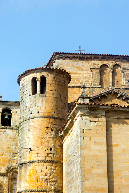 SANTILLANA DEL MAR, SPAIN - April 20 2018 - Santillana del Mar Cathderal, Spain, Europe.