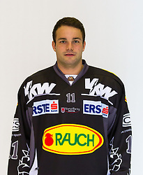 29.08.2012, Messestadion, Dornbirn, AUT, EBEL, Spielerportraits, Dornbirner Eishockey Club, im Bild Fabian Glanznig, (Dornbirner HC, #11)// during Dornbirner Eishockey Club Player Portrait Session at the Messestadion, Dornbirn, Austria on 2012/08/29, EXPA Pictures © 2012, PhotoCredit: EXPA/ Peter Rinderer
