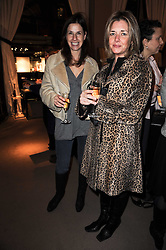 Left to right, LEONIE FALLSTROM and CATHERINE MOULD at a lecture in aid of The Lavender Trust hosted by Asprey, Bond Street, London on 27th January 2010.