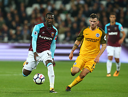 October 20, 2017 - London, England, United Kingdom - West Ham United's Pedro Obiang.during Premier League match between West Ham United against Brighton and Hove Albion at The London Stadium, Queen Elizabeth II Olympic Park, London, Britain - 20 Oct  2017  (Credit Image: © Kieran Galvin/NurPhoto via ZUMA Press)
