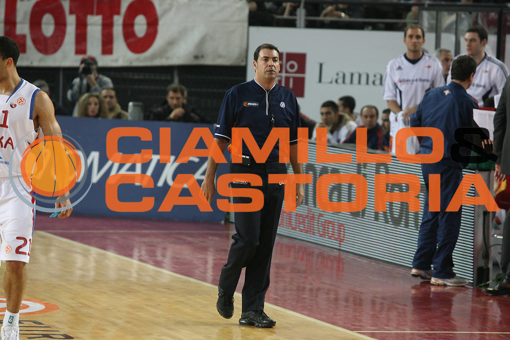 DESCRIZIONE : Roma Eurolega 2007-08 Top 16 Lottomatica Virtus Roma Cska Mosca <br /> GIOCATORE : Arbitro Referees <br /> SQUADRA : <br /> EVENTO : Eurolega 2007-2008 <br /> GARA : Lottomatica Virtus Roma Cska Mosca <br /> DATA : 06/03/2008 <br /> CATEGORIA : <br /> SPORT : Pallacanestro <br /> AUTORE : Agenzia Ciamillo-Castoria/G.Ciamillo