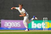 Surrey's Sam Curran during the Specsavers County Champ Div 1 match between Hampshire County Cricket Club and Surrey County Cricket Club at the Ageas Bowl, Southampton, United Kingdom on 18 July 2016. Photo by Graham Hunt.