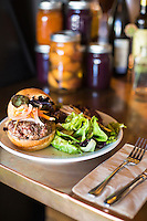 Hamburger from Ruddick Wood in Newberg, Oregon.